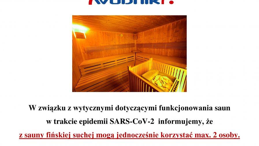 Informacja dotycząca ilości osób korzystających z sauny fińskiej suchej.