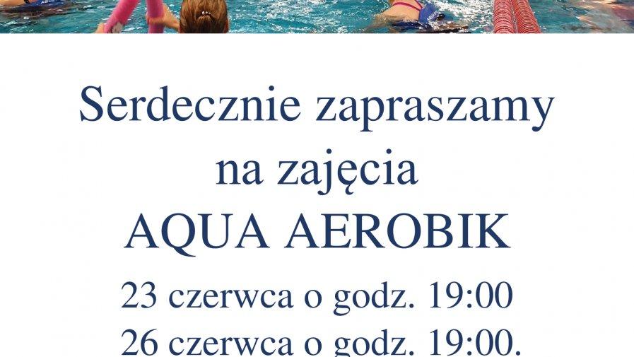 Informacja dot. zajęć AQUA AEROBIKU.