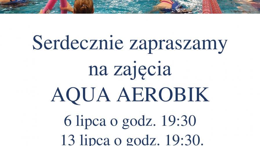 Terminarz zajeć aqua aerobik - lipiec.