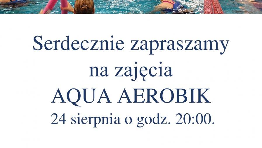 Ostatnie sierpniowe zajęcia aqua aerobik.